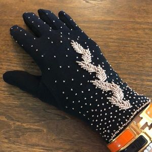 Handmade embroidered stretch gloves ONE SIZE